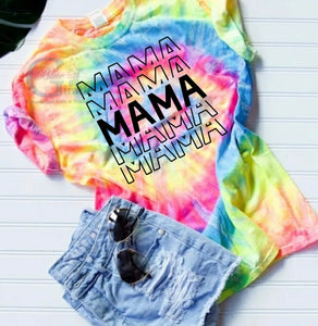 Stacked Mama Tie Dye Tee