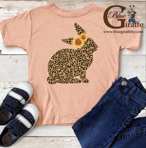 Leopard Bunny Youth Tee