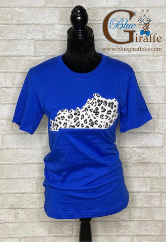 White Leopard State Applique Tee