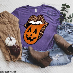Leopard Pumpkin Tongue Tee