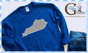 Gingham State Sweatshirt (Blue w/Black Gingham)
