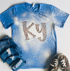 Bleached KY Leopard Tee