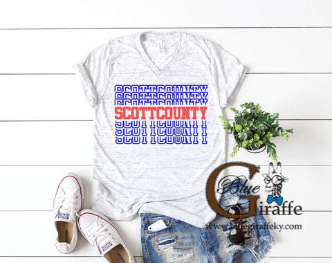 SCOTT COUNTY STACKED TEE