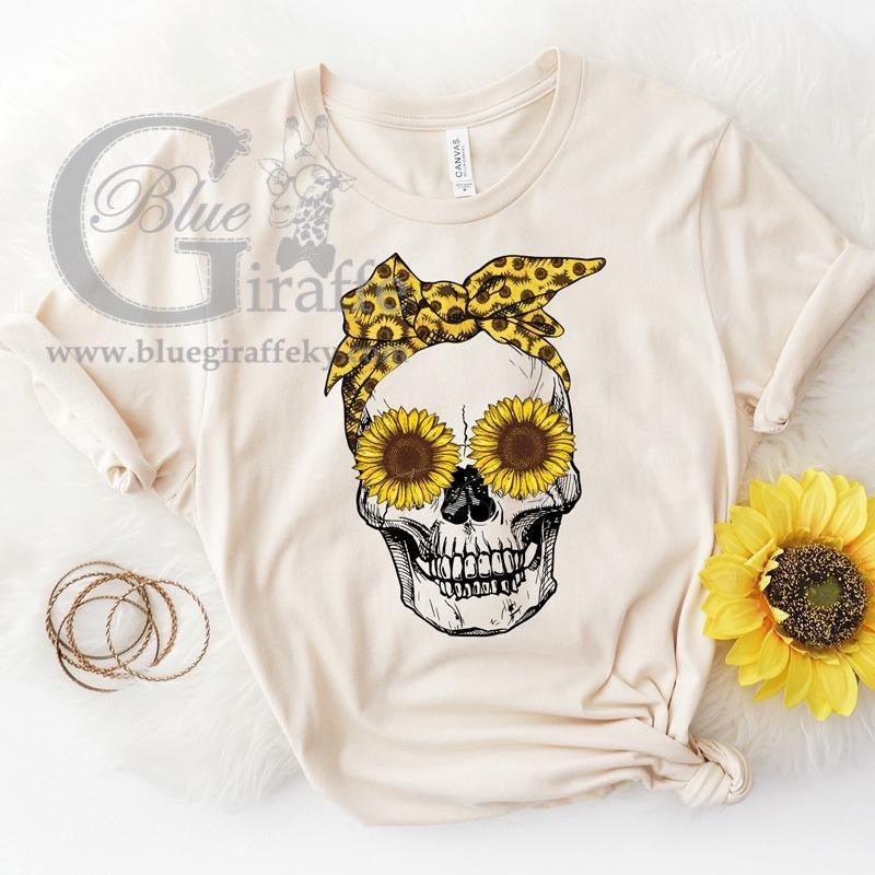 Sunflower Skull Tee