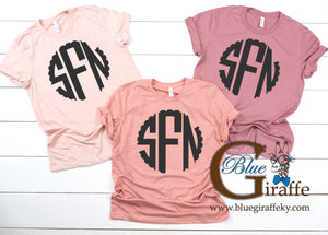 Scallop Monogrammed Tees