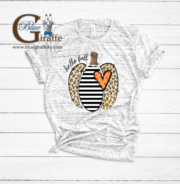 Leopard and Striped Pumpkin Tee