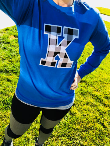 Black and White K Long Sleeve Tee