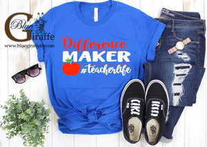 Difference Maker Teacher Tee