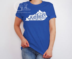 State with Swirly Kentucky Tee