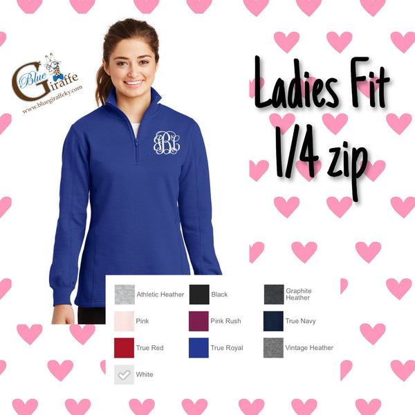 Ladies Fit Monogrammed Pullover