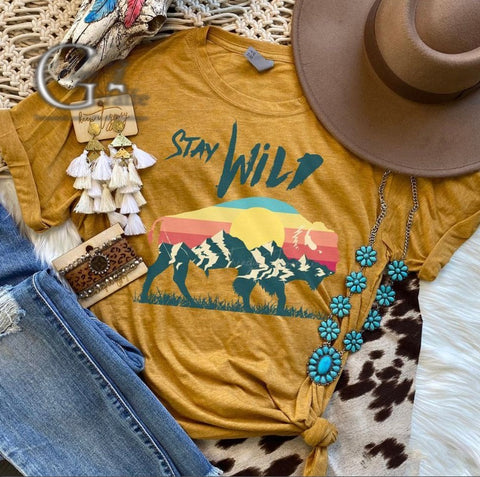 Stay Wild Sunset Tee