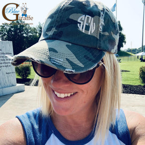 Camo Hat with small monogram