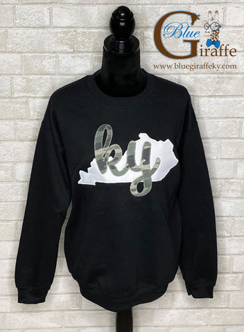 State with Cursive KY Applique Sweatshirt