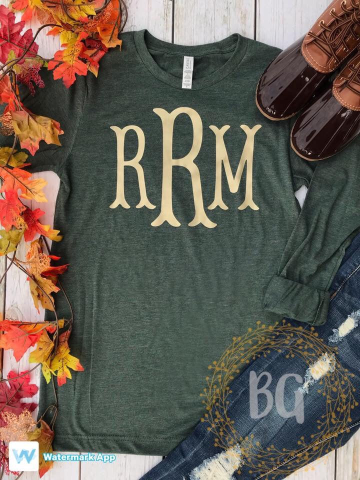 Long Sleeve Monogrammed Tee