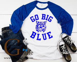 Go Big Blue Raglan