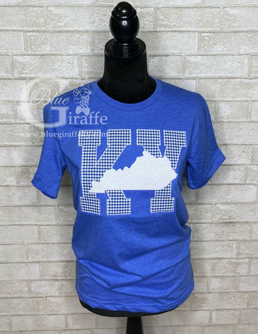 Gingham KY State Applique Tee