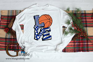 Kentucky LOVE Basketball Long Sleeve Tee