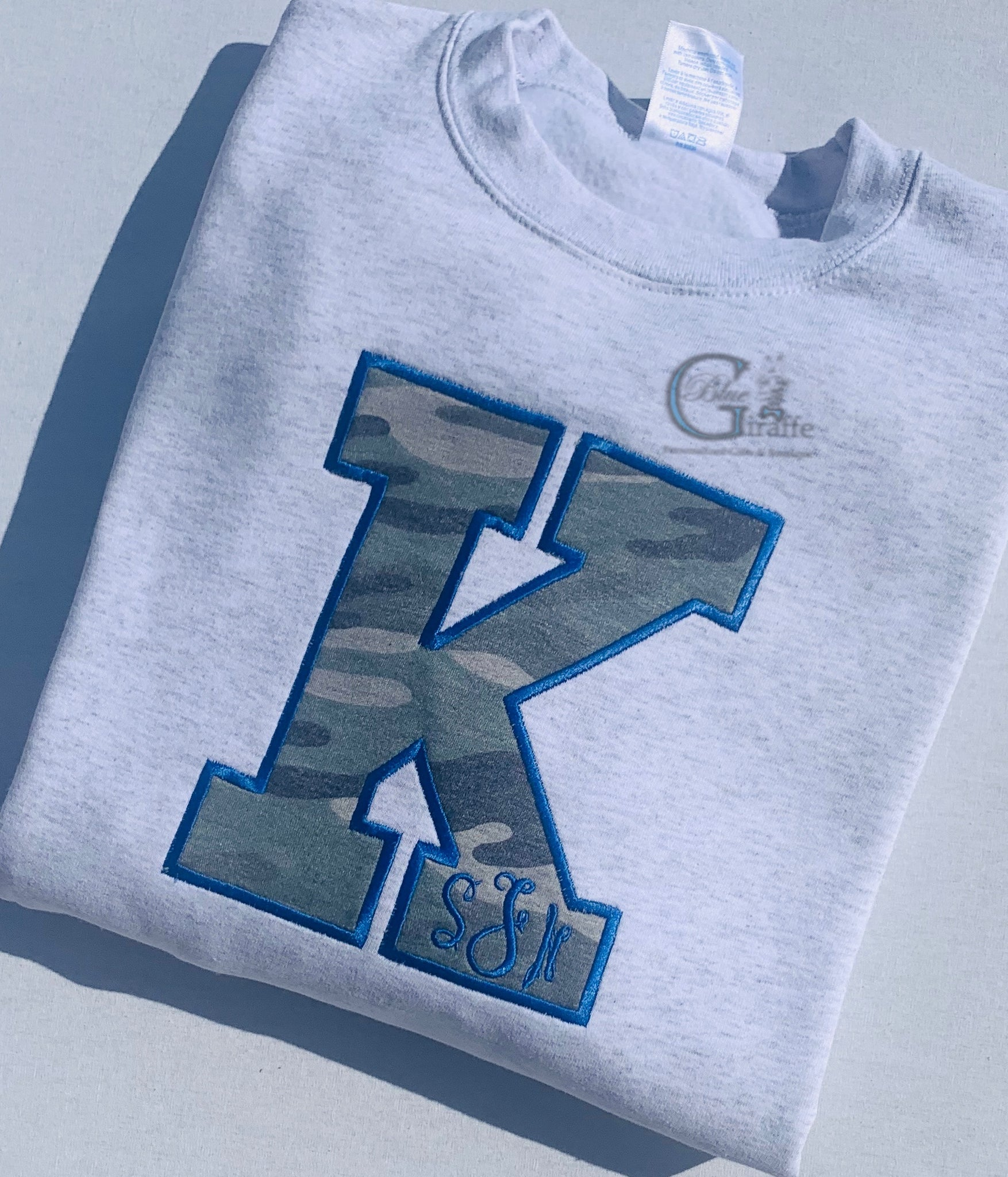 Camo K with Monogram Sweatshirt