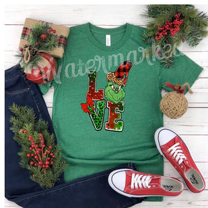 LOVE Grinch Face Tee