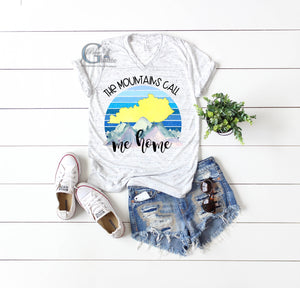 The Mountains Call Me Home Vneck Tee