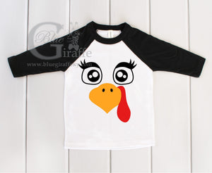 Lady Turkey Youth Raglan