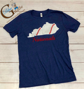 Baseball State with Team Name Tee