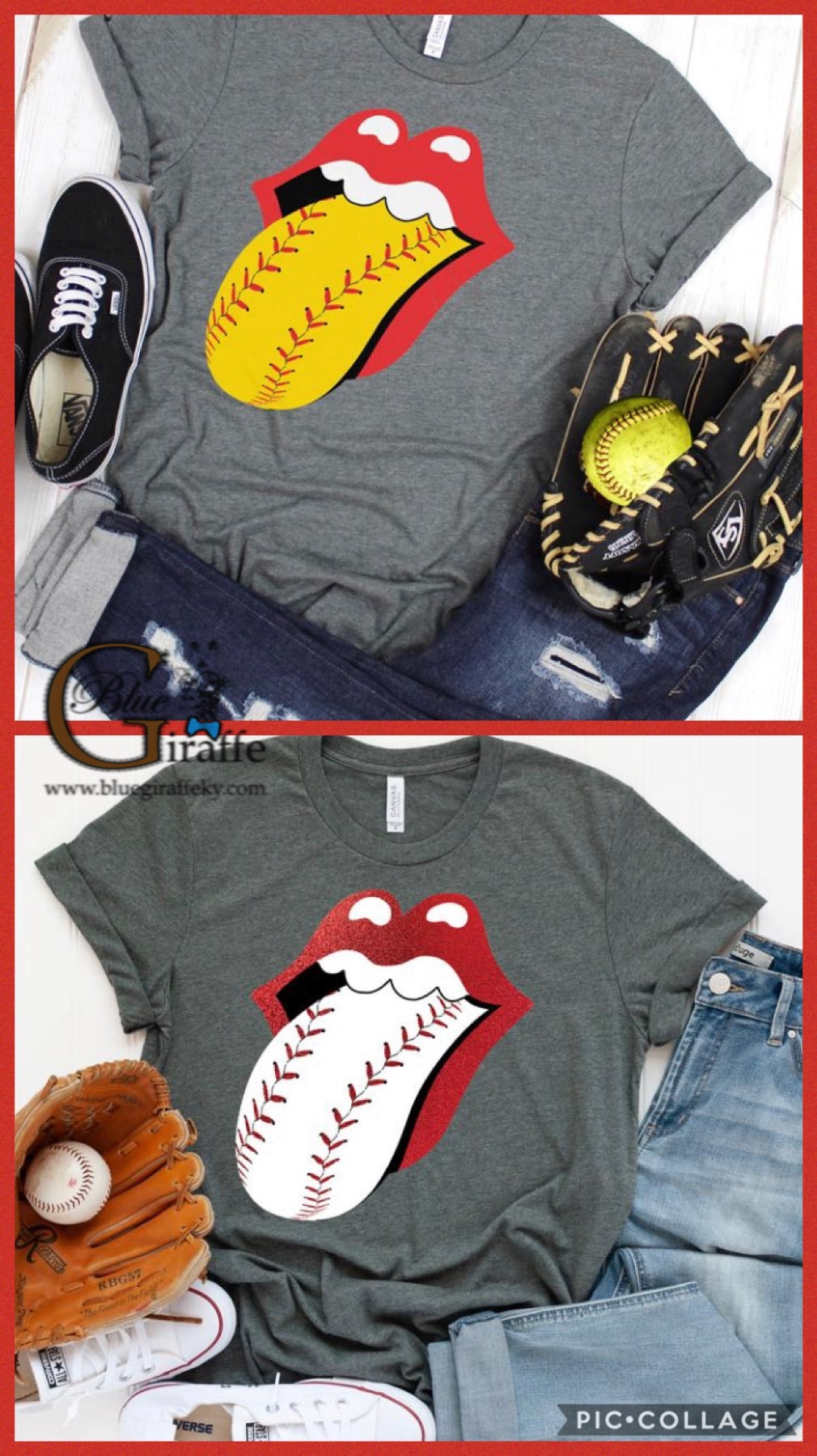 Baseball/Softball Tongue Tee