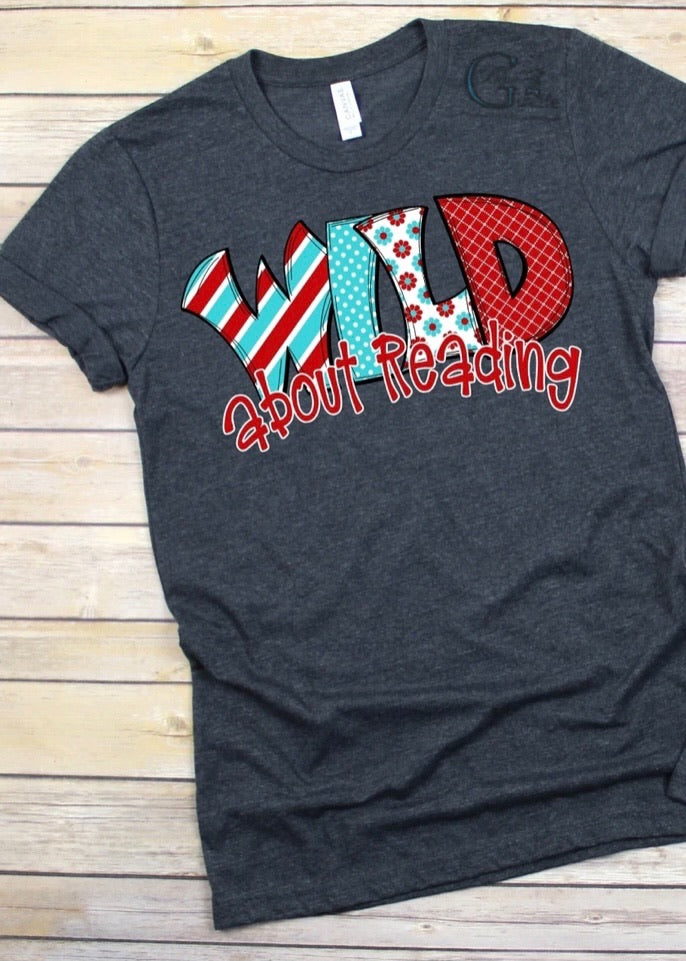 Wild About Reading Tee
