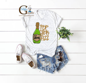 Pop Clink Fizz Vneck Tee
