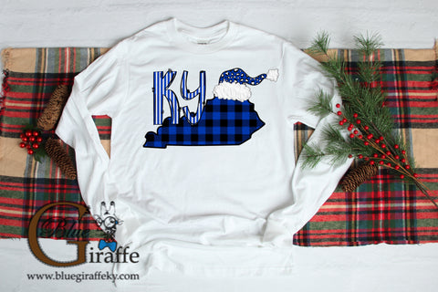 KY State Christmas Long Sleeve Tee