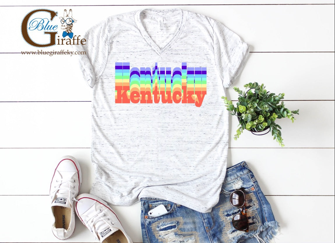 Retro Kentucky V-neck Tee