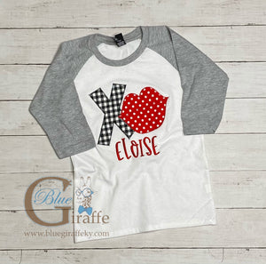 Youth XO Lips Raglan