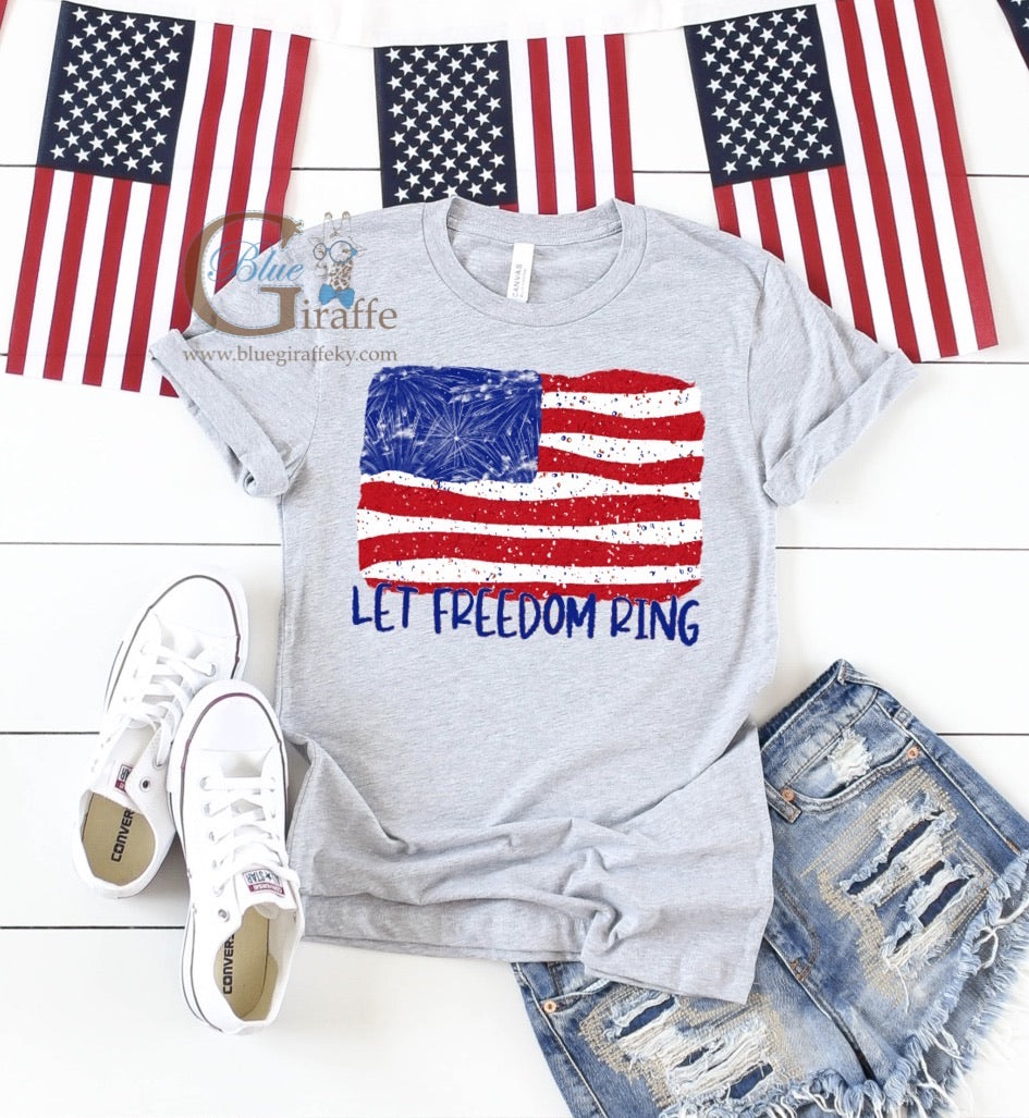 Let Freedom Ring Flag Tee