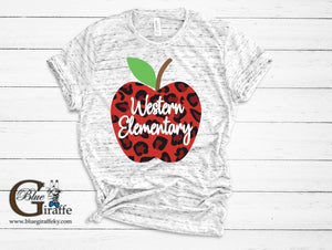 Personalized Leopard Apple Tee