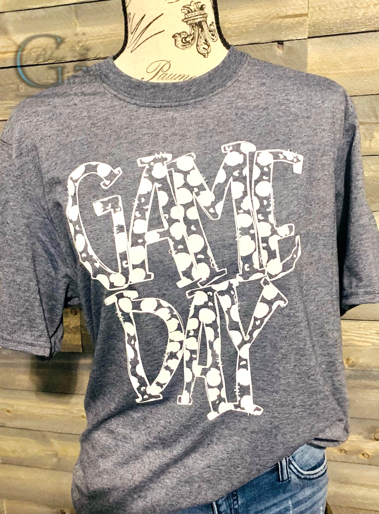 Polka Dot Game Day Tee(Last Chance)