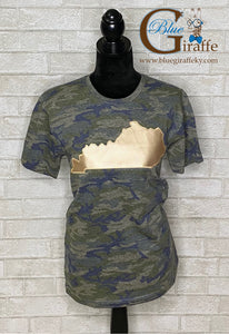 Camo Tee with Metallic State