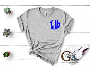 Big Blue Monogram Tee
