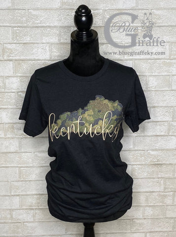 Camo State Kentucky Applique Tee