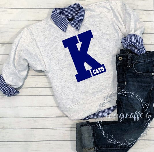 Adult K with CATS Sweatshirt