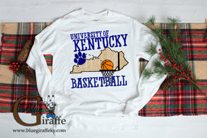 Kentucky Basketball State Long Sleeve Tee