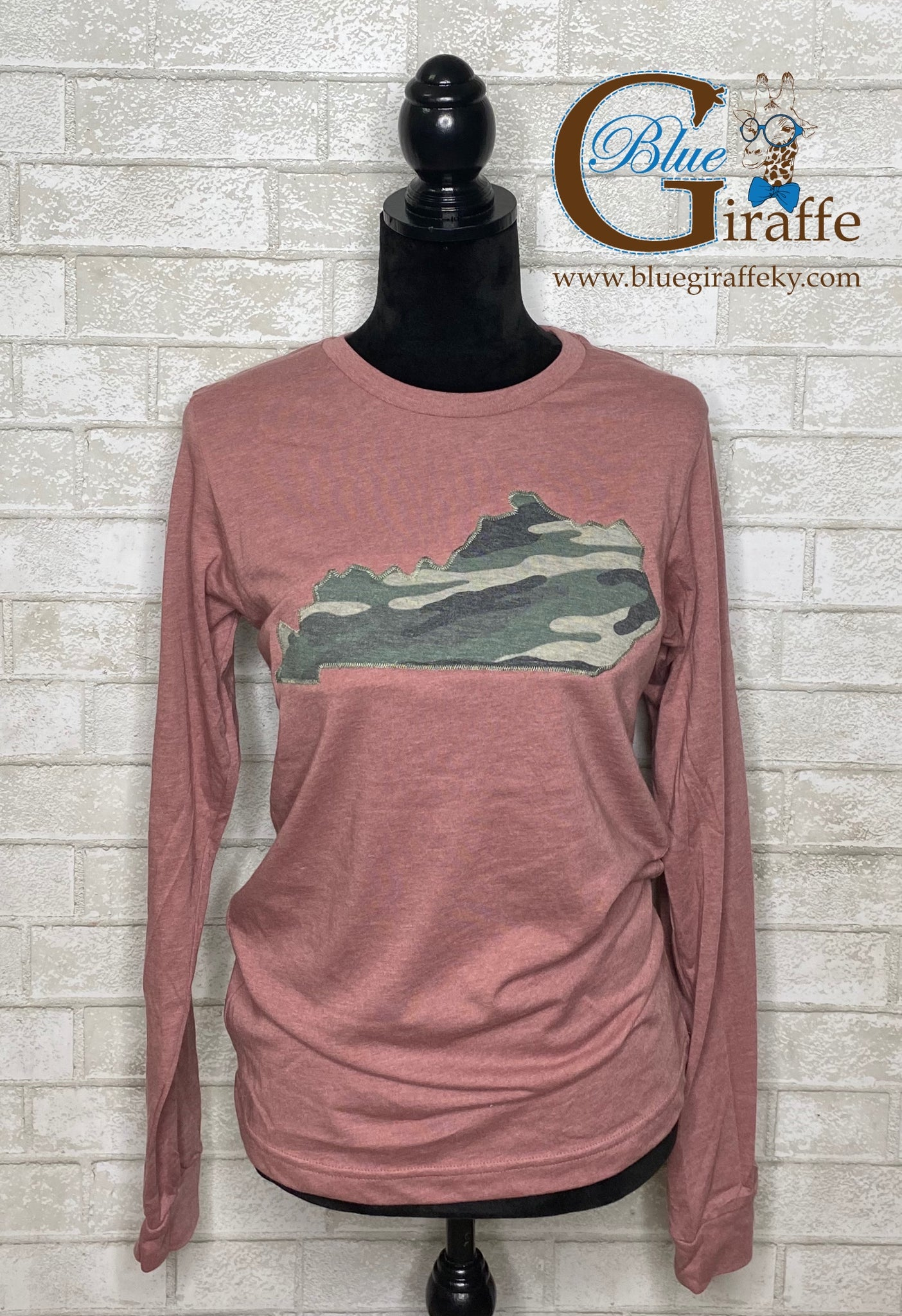 Camo State Applique Long Sleeve Tee