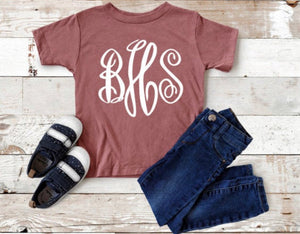 Monogrammed Youth Tee