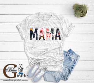 Navy Floral Mama Tee