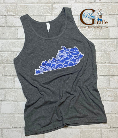 Blue Lace State Tee or Tank