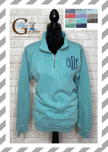Comfort Colors 1/4 Zip Pullover