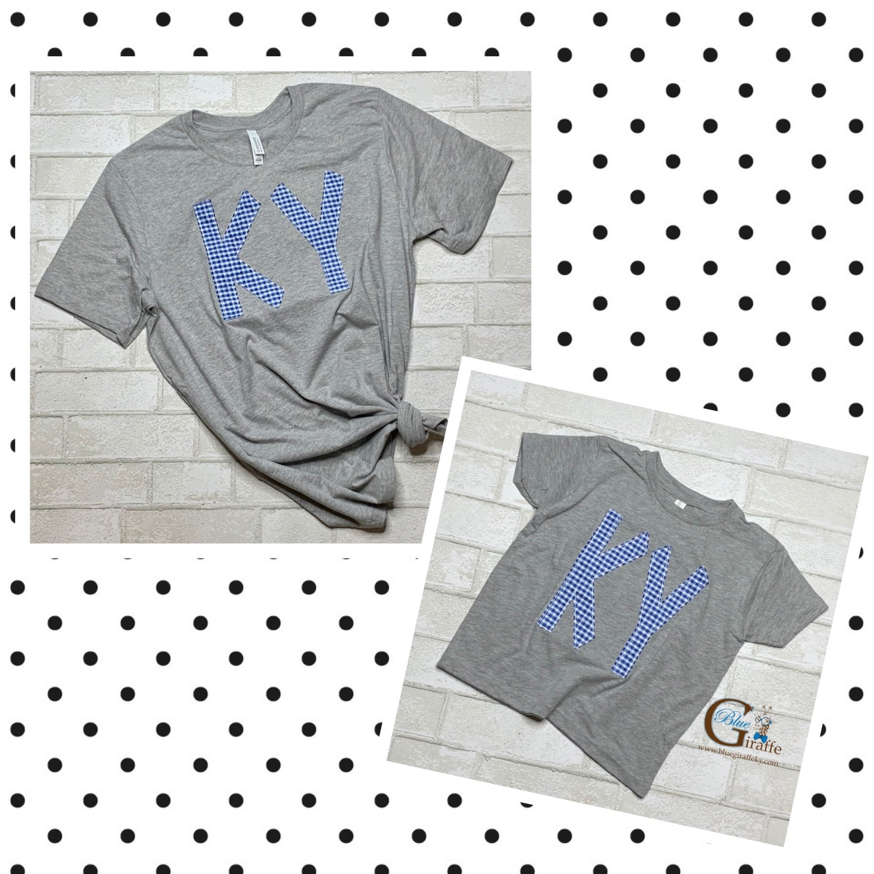 KY in gingham Mom and Me Tee Set