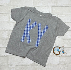 KY in gingham Youth Tee