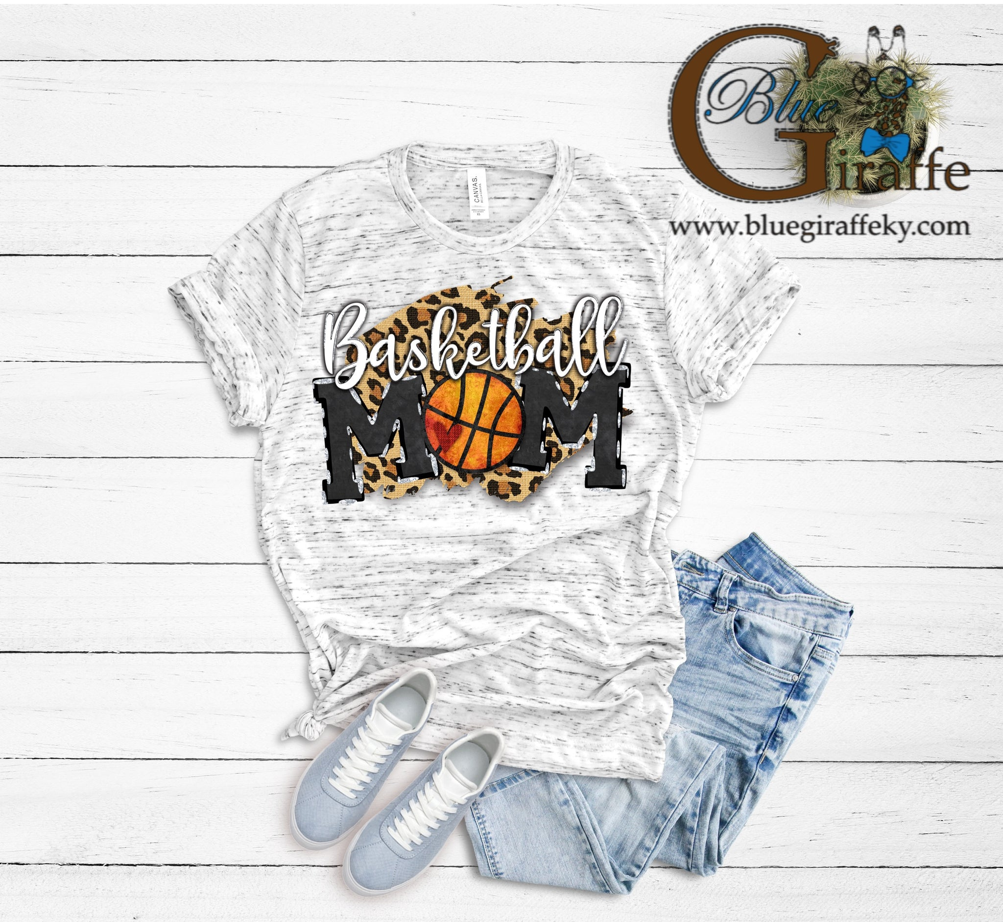 Leopard Background Basketball Mom