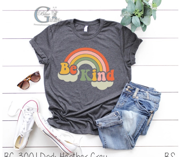 Retro Rainbow Be Kind Tee