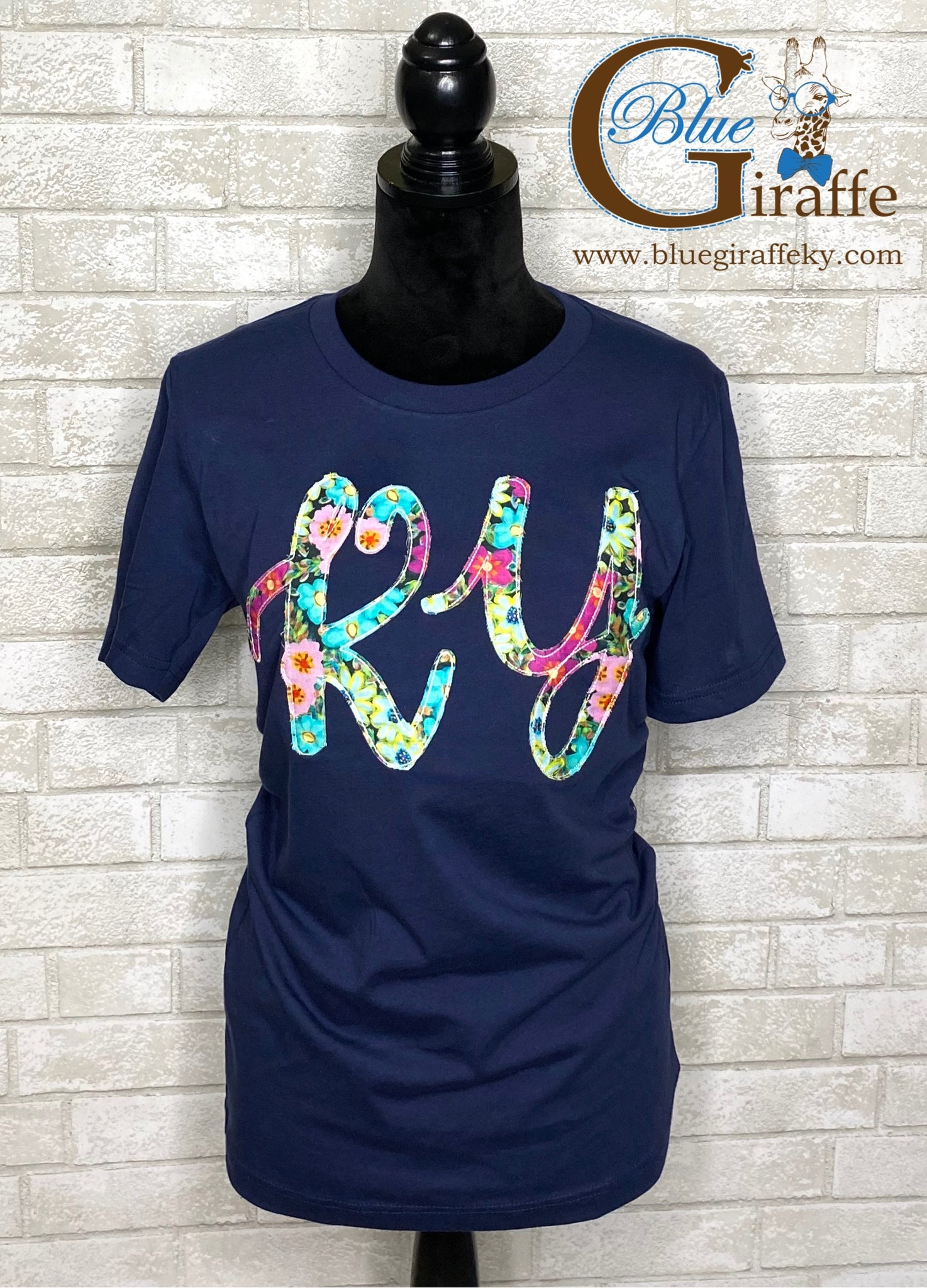 Floral Fancy KY Applique Tee
